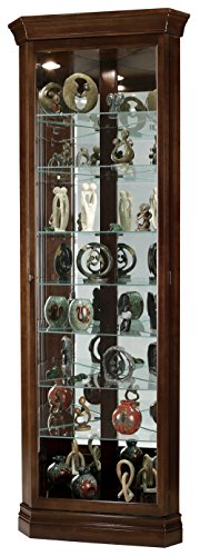 Eight Shelf Corner Cabinet Curio (Howard Miller 680-483 Drake Curio Cabinet)