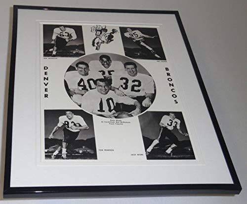 1960 Denver Broncos Team Framed 11x14 Photo ()