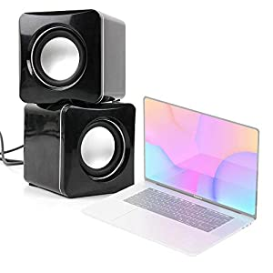 DURAGADGET Altavoces Compactos Compatible con Portátil Apple MACBOOK Pro 16″ (2019) – Tamaño Mini – Conexión Mini Jack + USB 41pVU1pzDcL