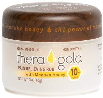Theragold Pain Relief Cream with Manuka Honey, All-Natural Anti-Inflammatory Cream, Carpal Tunnel, Fibromyalgia, Sciatica, Arthritis, Back Pain, Rapid Response, Bleach-Free, Tennis Elbow Relief (1)