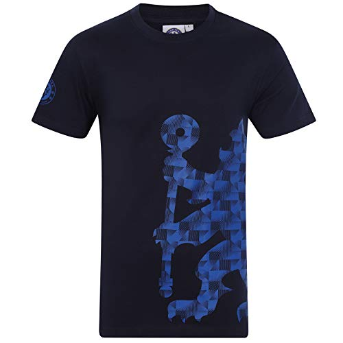 (Chelsea FC Official Soccer Gift Mens Graphic T-Shirt Navy Medium)