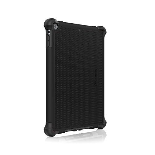 Ballistic Tough Jacket Case with Video Stand for 1st Generation iPad Air Released 2013 Models A1474/A1475/A1476, - Black