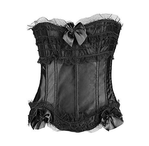 Lace Corset Top + G-String + Skirt Bustier Mini Tutu Wedding Dress Black Corset S-6XL,12,5XL