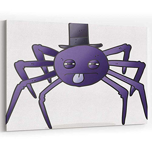 Actorstion Cartoon Halloween Spider in top hat 089999 for Modern Home Decor Stretched-Framed Ready to Hang -