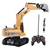Remote Control Excavator, 2.4GHz 6 Channels Remote Control Excavator Truck 1/24 Scale RC Engineering Car Construction Vehicle Toy Gift for Kids Children