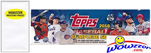 2016 Topps Baseball EXCLUSIVE MASSIVE 705 Card Retail Factory Set with 5 ROOKIE VARIATION Cards! Plus Bonus Wowzzer Mystery Pack with AUTOGRAPH or MEMORABILIA Card! Includes all Cards from Series 1&2 (Topps Baseball Set)