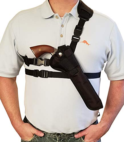 "Silver Horse Holster Chest/Shoulder Gun Holster | Fits Blackpowder Revolvers with a 4"" - 9"" Barrel (9"" Barrel, Right)"