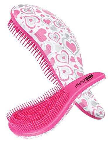 Cala TANGLE-FREE Hair Brush (Pink / Silver Heart)