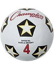 كرة رياضية مطاطية SRB4 من شامبيون سبورتس، للكرة الأمريكية، رقم 4، أبيض/أسود (CSISRB4)