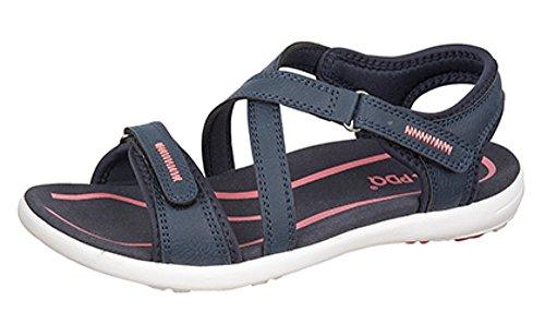 PDQ - Sandalias de vestir de Material Sintético para mujer azul marino