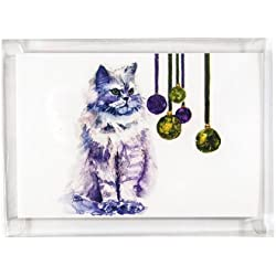 Rainbow Card Company 10-pack Christmas Cards with Envelopes - Persian Cat