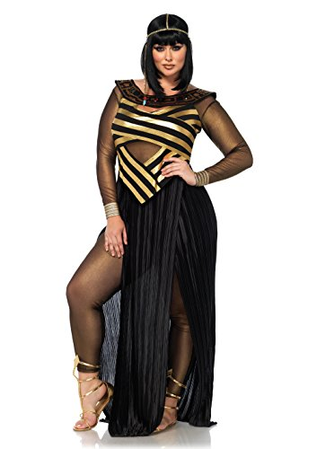 Leg Avenue Women's Plus Size Sexy Nile Queen Cleopatra Costume, Gold/Black 3X-4X