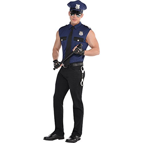 AMSCAN Under Arrest Cop Halloween Costume for Men, Large,