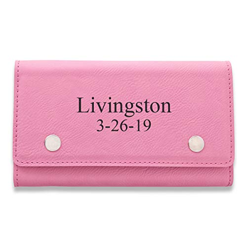 Personalized Card & Dice Set - Pink (2LN/15 Char)
