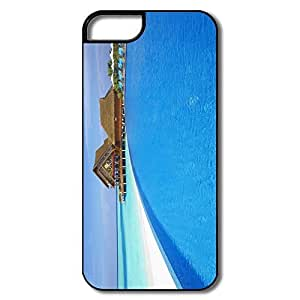 IPhone 5S Case, Resort Swimming Pool Cover For IPhone 5/5S - White/black Hard Plastic