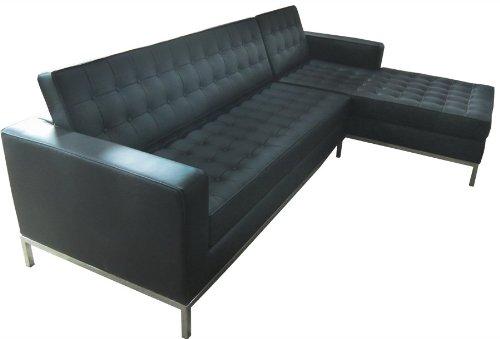 Couch Italian Black (RetroMod Florentia Sectional Sofa, Italian Black)