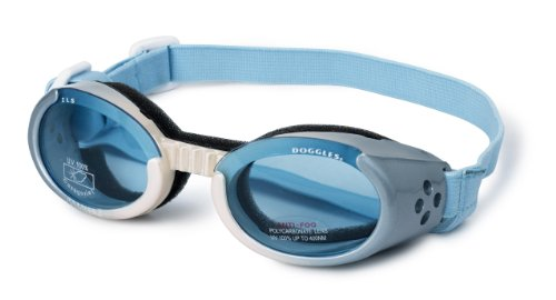 Doggles Dog Goggles ILS Ice Frame /Blue Lens – Medium, My Pet Supplies