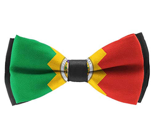 L Wright-King Fashion Men Flag of Los Angeles Bow Tie Party Banquet Bowtie Wedding Accessories