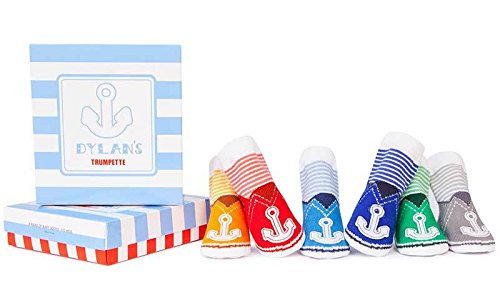 Trumpette Baby Boys Sock Set-6 Pairs, Dylan's-Assorted Colors, 0-12 Months