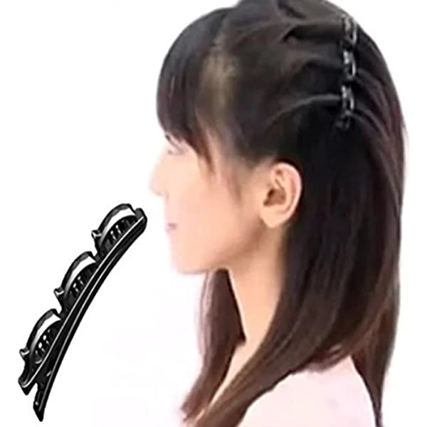 for Women Girls Hairstyle Bangs Waves Makeup Black2pcs Double Bangs Hairstyle Hairpin Hairband Clip Hair Hoop Band Black Hair Bundle Accessories