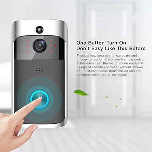 Dongdongole Home Wireless WiFi Remote Monitoring Video Doorbell Real-Time Two-Way Talk Home Smart Security Systems