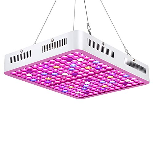 Roleadro LED Grow Light, Reflector-Series 1200W Plant Light Dual-Chip with ON/Off Switch and Daisy Chain, Red Bule Full Spectrum Grow Light for Indoor Plants, Hydroponic, Veg and Flower