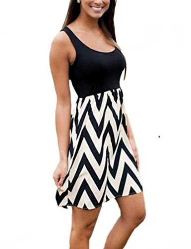 high neck stripe dress - 4