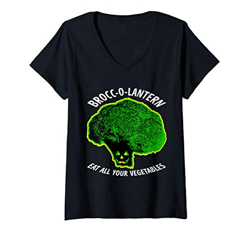 Scary Broccoli Halloween Costumes - Womens Halloween Scary Broccoli Brocc-O-Lantern Funny