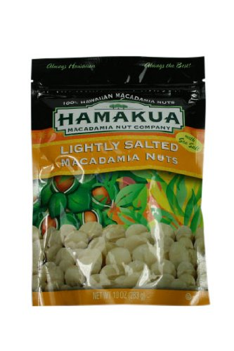 Hamakua Macadamia Nuts Lightly Salted in ReSealable Pouch (10 Ounces, 283 - Nut Company