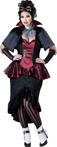 InCharacter Costumes Women's Plus Size Steampunk Vampiress, Red/Black,