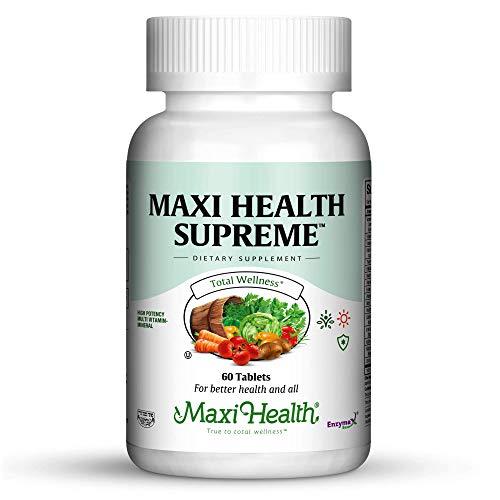 - Maxi Health Supreme - High Potency Multivitamin & Mineral Supplement - 60 Tablets - Kosher