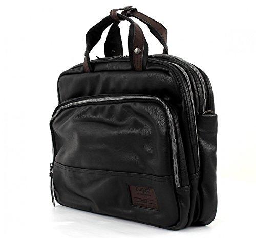 D with 40 Bugatti Zip Briefcase Brief Moto Blue cm Bag Black Black qtcnatC