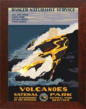 Hawaii Volcanoes National Park Framed Poster