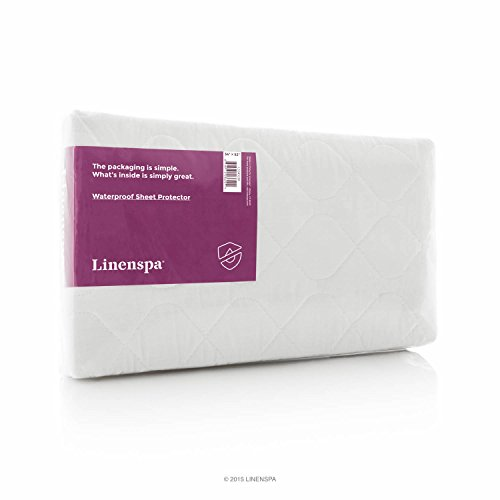 Linenspa 44' x 52' Non Skid Waterproof Sheet Protector with Highly Absorbent Fill Layer and Soft Cotton Blend Cover