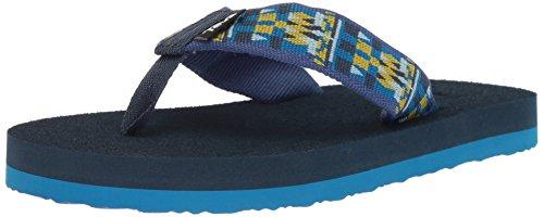 Teva Unisex K MUSH II Flip-Flop, Robbie Blue, 1 M US Little - Flip Kids Flops