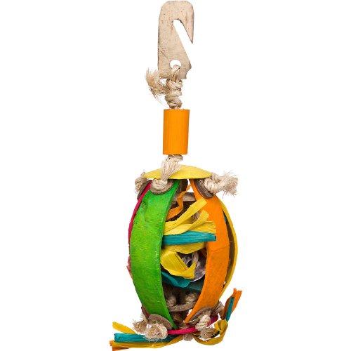 Planet Pleasures Kokokrunchers Coco Shell Foraging Ball Bird Toy, Small