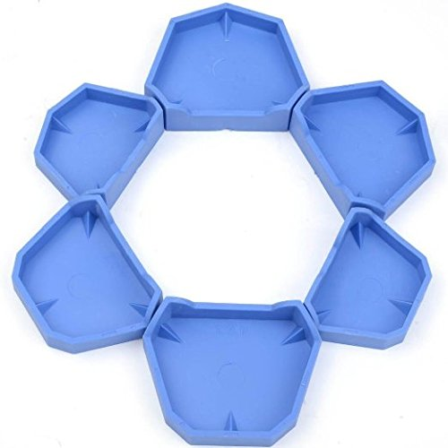AZDENT® Dental Lab Model Former Base Molds Blue Color Two Types(1 Pack/6Pcs)