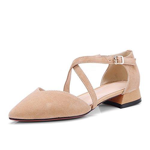 BalaMasa Womens Non-Marking Mini-Size Structured Urethane Sandals ASL05082 Apricot E6z677