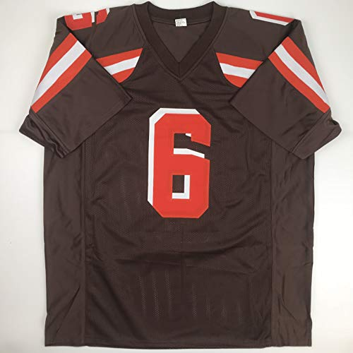 wholesale dealer cab12 7e0f7 Unsigned Baker Mayfield Cleveland Custom Stitched Brown Football Jersey  Size Men's XL New No Brands/Logos