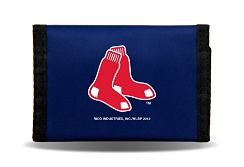 MLB Boston Red Sox Rico Products MLB Nylon Wallet Boston Red Sox, black, Small (Sox Red Purse Boston)