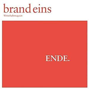 brand eins audio: Ende Audiomagazin