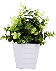Meneco Small Fake Plant in Pot Faux Plant Indoor Plant Artificial Potted Plant Decor for Home and Office