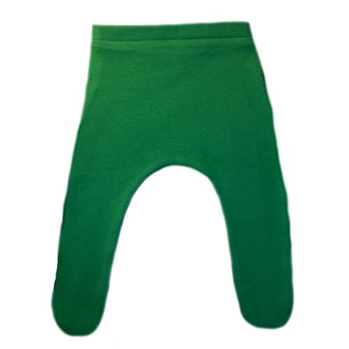Jacqui's Baby Girls' Cotton Knit Tights with Elastic Waist - Lots of Colors, 3-6 Months, Kelly Green -