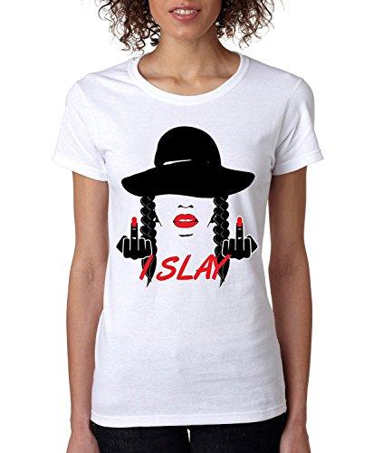 Price comparison product image Allntrends Women's T Shirt I Slay (XL,  White)