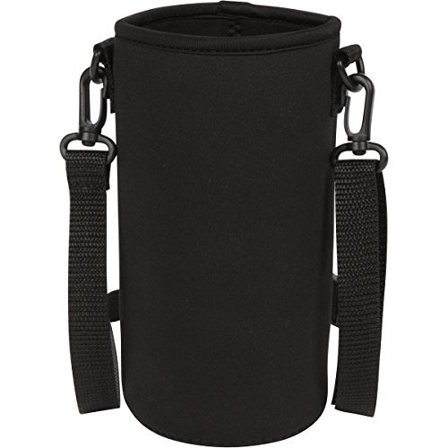 Neoprene Water Bottle Holder Bag Pouch Cover, Insulated Water Bottle Carrier (32 ounces / 1-1.5 Liter) w/ Adjustable Shoulder Strap by (Water Bottle Carrier With Strap)