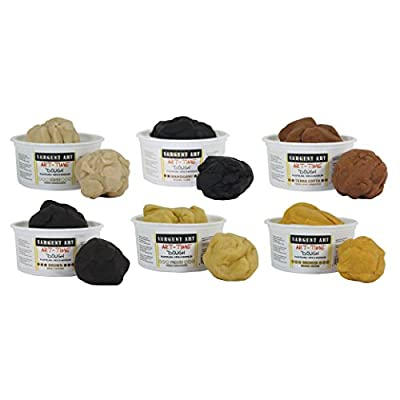 Sargent Art Art-Time Multicultural Dough, Assorted Colors, 1 lb Tubs, Pack of 6, Multi: Home & Kitchen