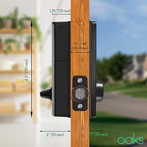 Electronic Deadbolt Smart Door Lock, LED Touch Screen Keypad, Bluetooth Smart Phone Enabled Keyless Access, Easy to Install, Oaks Smart Lock (Smart Lock) by OAKS LABS (Image #2)