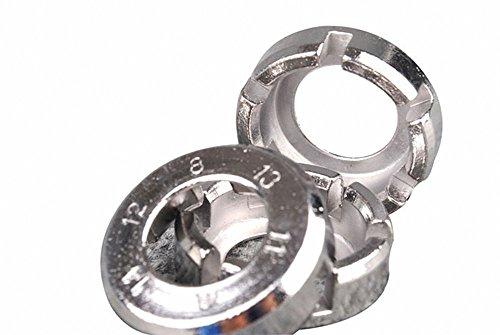 P&o 8 Way Bicycle Spoke Key Bike Cycle Wheel Rim Wrench Span
