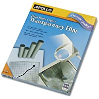 Plain Paper Transparency Film for Laser Devices, Letter, Clear, 100/Box, Total 500 SH, Sold as 1 Carton