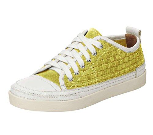 Andrea con Amarillo zapatos amarillo cordones Conti Mujer SrSRWq6